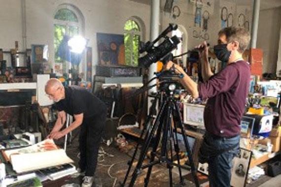 Dreharbeiten Atelier Vetere